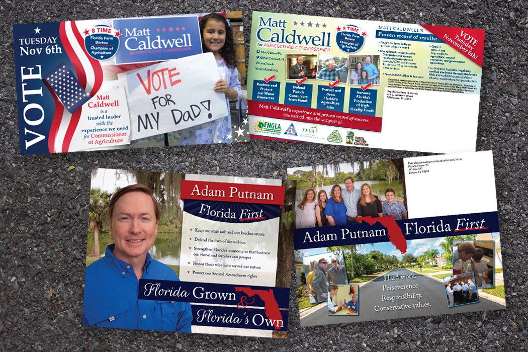 Campaign mailers, political flyers